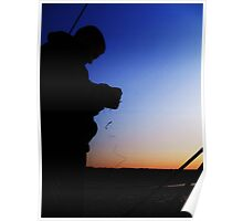 Fisherman Silhouette Poster