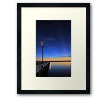 Crepuscular Rays  Framed Print