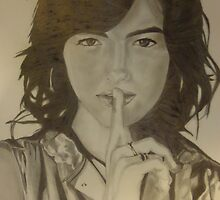 Camilla belle Drawing by Delfino Ceja-Garibay
