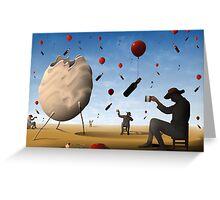 Garrafas Flutuantes Greeting Card