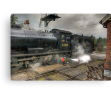 No.63395 On The Road Crossing Canvas Print
