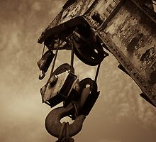 Retired crane - sepia by Andreas Koepke