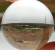 "The World Is At My Finger Tips (Shot through a 2"" Lucite sphere) by Sanguine"