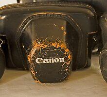 Old Camera Bags by Kellea Croft