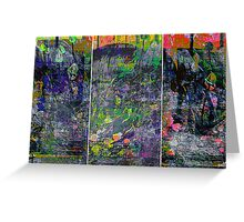 IN BLOOM (triptych) Greeting Card