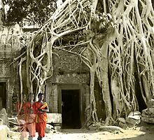 Peace at Ta Prohm  by tracyleephoto
