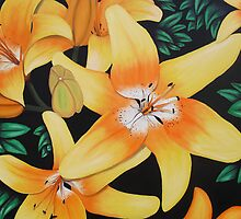 Lillies Of Orange by Laura Majcan