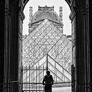 Le Cycliste depart Le Louvre. by Victor Pugatschew