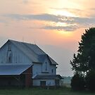 Sunrise over an Old Farm by mltrue
