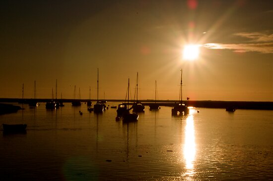 Sunrise over Wells Harbour by George Swann