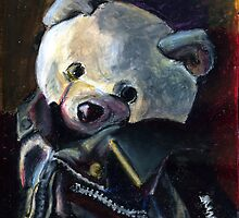 Bernard (Punk Rock Teddy Bear) by sadeyedartist
