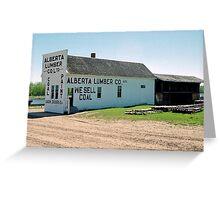 Alberta Lumber Company, Ukrainian Heritage Village near Edmonton, Alberta, Canada Greeting Card