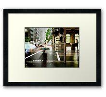 Sydney Downpour Framed Print