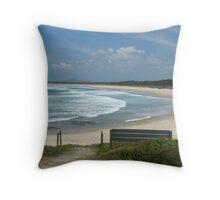 (4)-Main Beach Throw Pillow