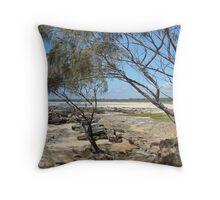 (10)-Back Beach Throw Pillow