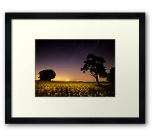 rapeseed field by moonlight Framed Print