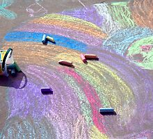 Child's Chalk Art 4 by SteveOhlsen