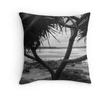(17)-Back Beach Throw Pillow