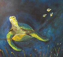 ENDANGERED SPECIES - THE GREEN SEA TURTLE by LenasCreations