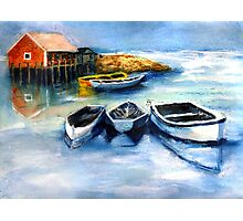 Peggy's Cove Frozen In, Chance of Snow  Photographic Print
