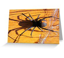 Red Back Greeting Card