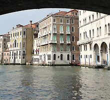 From under Rialto Bridge by Angelo Vianello