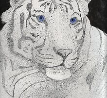 White Bengal Tiger by ReadingBeauty