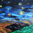 Mountain Starry Night by George Hunter