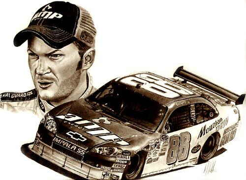 Dale Earnhardt Nascar by Martin Hatton