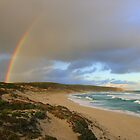 """Double Rainbow, Hanson Beach"" by Gail Mew"