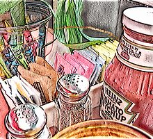Salt,Pepper,Ketchup by Ladydi