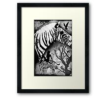 In My Black and White Dream Framed Print