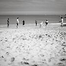 Beach Cricket by John Burtoft