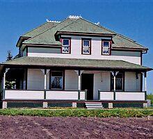 Hawreliak House, Ukrainian Cultural & Heritage Village, near Edmonton, Alberta, Canada by Adrian Paul