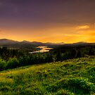 Sunset over Tomdoun by Fraser Ross