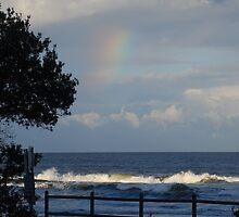 Rainbow silhouette by Graham Mewburn