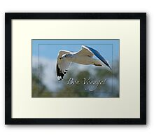 Bon Voyage Greetings Framed Print