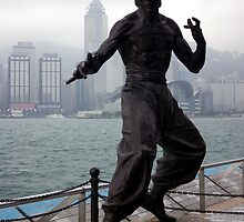 Bruce Lee statue by John Mitchell