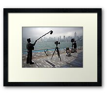 Avenue of the Stars, Hongkong Harbor. Framed Print
