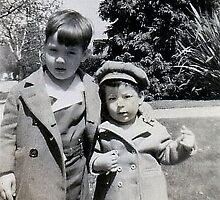 Cousin Danny and Ed 1945 by Edward Henzi
