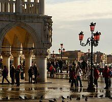 Venice San Marco Acqua Alta by Sturmlechner