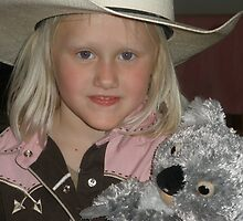 Olivia Slade - My Niece with Koala by Anthea  Slade