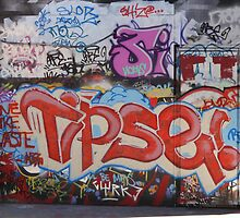Riverside Graffiti by Charlotte Jarvis