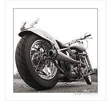 """Harley-Davidson Shovelhead Hardtail - Side A"" Photographic Print"