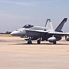 F-18 Preparaing For Takeoff by Buckwhite