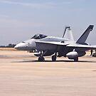 F-18 Preparaing For Takeoff by Buckwhite