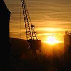Belfast Harbour Sunset by Alan McMorris