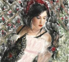Latin Beauty / after Renoir  by bev langby