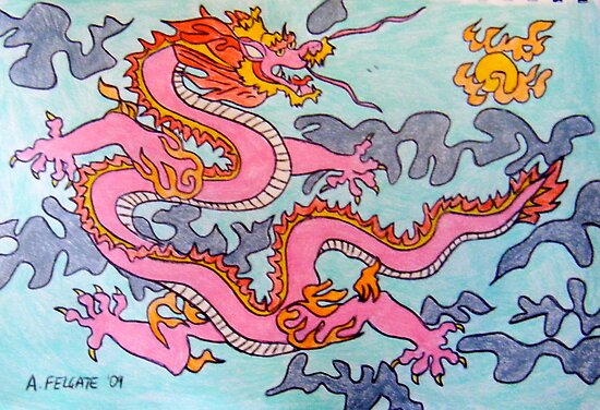 Chinese Fire Dragon by Alexandra Felgate