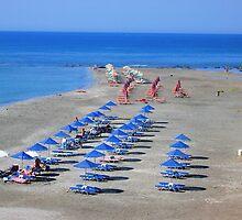 Shadows On The Sand Frangocastello Crete by Deirdreb